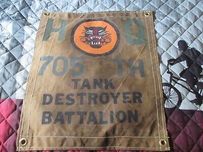 Wwii Us Army 705 Th Tank Destroyer Battalion   Command Post   Flag