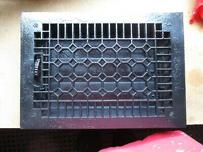 Antique Cast Iron 12 x 8 Grate Vintage Floor Register Vent vintage Art Decco