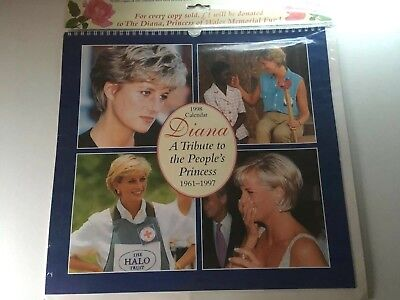 1998 Calendar Diana A Tribute to the People's Princess 1961-1997 New Sealed
