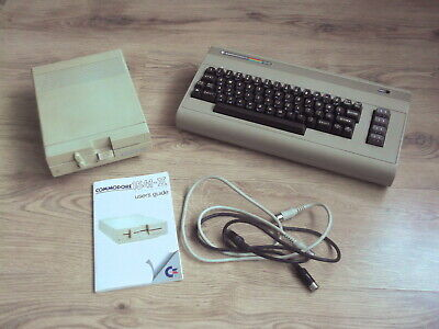COMMODORE 64 C64 Breadbin Computer with Cassette Data