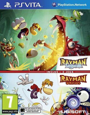 Rayman Legends & Rayman Origins Doublepack (PS VITA) FRENCH Multi-language NEW