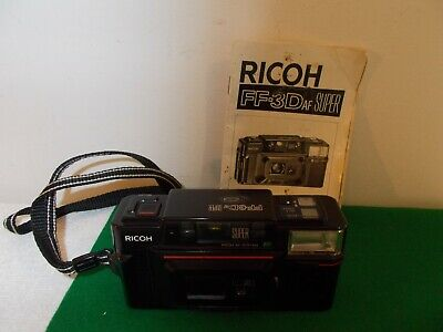 VTG Ricoh FF-3D AF Super 35 mm Compact Camera with Instruction Guide, Point & Sh
