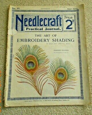 NEEDLECRAFT PRACTICAL JOURNAL No. 77 THE ART OF EMBROIDERY SHADING