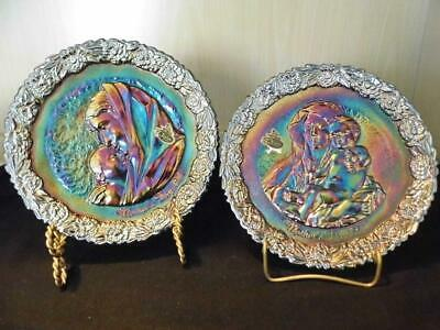 Fenton Carnival Glass Plates  Mother's Day 1971, 1972  Free Shipping