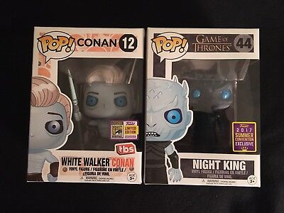 SDCC 2017 Game Of Thrones Funko Pop Night King & White Walker Conan
