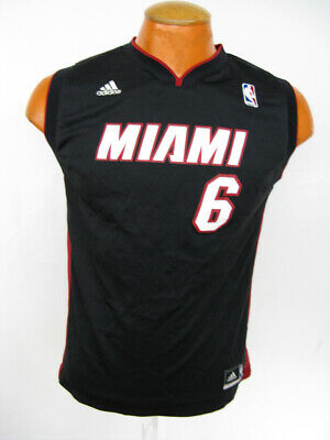 the best attitude fb0f8 856b7 U8 NEW REEBOK NBA Miami Heat LeBron James Black T Shirt Tee ...