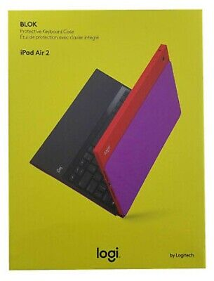 c6dc24ea314 Logitech Blok UltraThin Keyboard Cover Stand Case For iPad Air 2 Red Violet  New