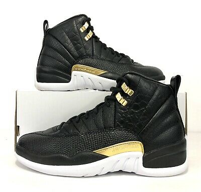 df0577198e9 Nike Wmns Air Jordan Retro XII 12 Reptile Black Metallic Gold AO6068-007  Size 8