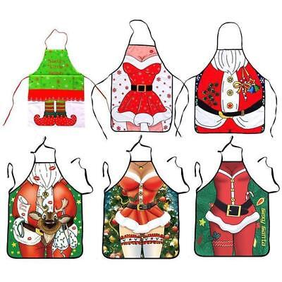 Christmas Baking Cooking Apron BBQ Xmas New Year Party 3D Fancy Dress LJ