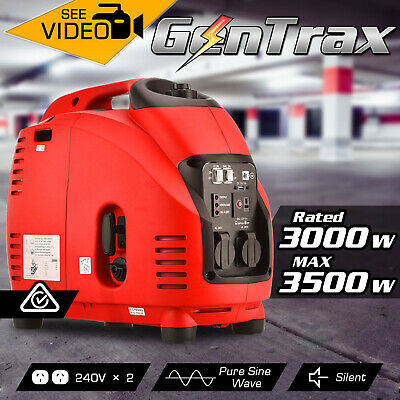Gentrax Portable Inverter Generator 3.5KW Max 3.0KW Pure Sine Petrol Camping