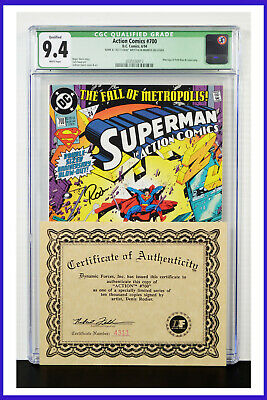 Superman In Action Comics #700 CGC Graded 9.4 Signed & Numbered W/COA Comic Book