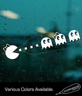 Ms. Pacman STICKER VINYL DECAL ATARI 2600 MIDWAY TAITO ARCADE VIDEO GAME GHOST