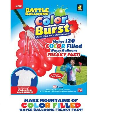 **Color Burst Water Balloons** (120 Balloons)**