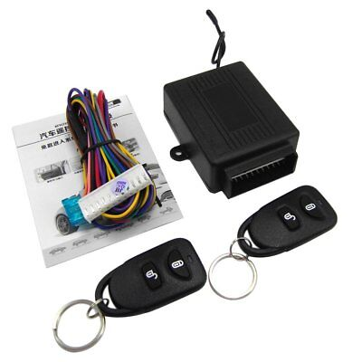 Car Central Door Locking Kit Vehicle Keyless Entry System Universal Remote 2 pM