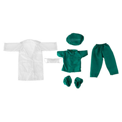 A Set Doll Doctor Nurse Clothes Outfit Set Fits for 18 Inch Our Generation Dolls