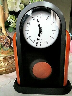 Quartz Mantle Clock Arched Frame With Pendulum ~New In Box