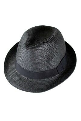 b40ebe3f Straw Hat Fedora - Panama Trilby Style Packable Crushable Summer Sun Mens L  O1G9