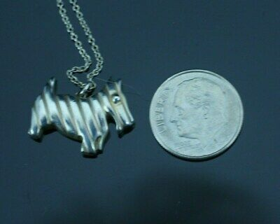 13637d21a TIFFANY & CO. Scottie Dog Charm Necklace New without tags - $175.00 ...