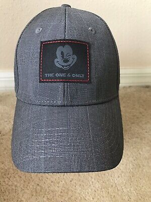Disney Parks Mickey Mouse Winking The One & Only Plaid Baseball Hat Cap Adult