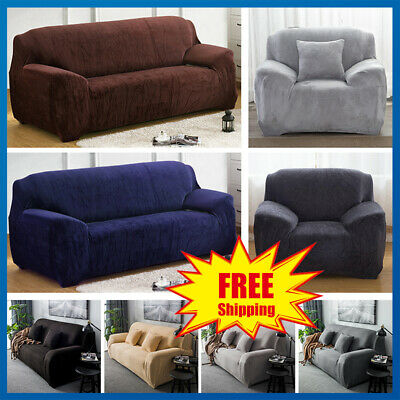 1/2/3/4Seater Stretch Fit Elastic Fabric Sofa loveseat Couch Covers Protector
