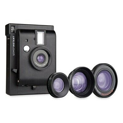Lomography Instant Mini Camera 3 Lenses Combo - Black [Lomography WARR]