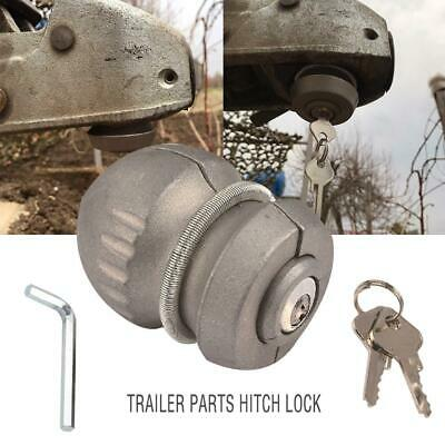 Caravan Trailer Coupling Lock Hitch Hitchlock 50mm Tow Ball Safety With Keys