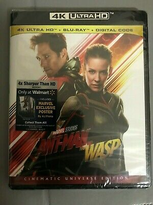 Ant-Man and The Wasp 4K UHD Blu-Ray + Blu-Ray Combo Pack