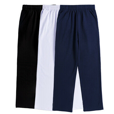 Boys' School Uniform Trousers Pants Sport Casual Pull On 95% Cotton with Pockets