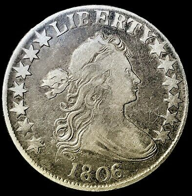 1806/5 Draped Bust Half Dollar Highly Collectible Overdate O-103