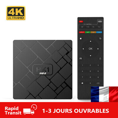 HK1mini Android 9.0 TV BOX Quad Core Wifi 2.4G 4K HD Multimédia HK1 MINI MAX 2GB