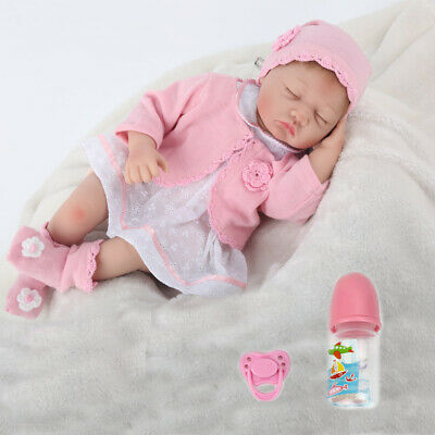 22'' Reborn Baby Dolls Girl Doll Accompany Gift Lifelike Silicone Vinyl Newborn