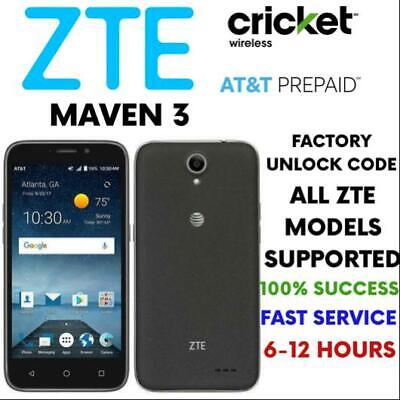 Zte Express Premium Factory Unlock Code Worldwide Any Model Express Cricket Att