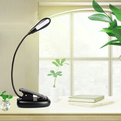 Flexible Neck Light Clip on USB 4 LED Book Lamp Reading Rechargeable USB B0F6Z