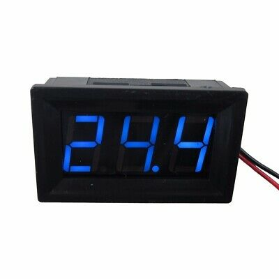 "0.56"" Blue DC 4.5-120V Digital Voltmeter Voltage Measurement 2 Wires Gauge LED"