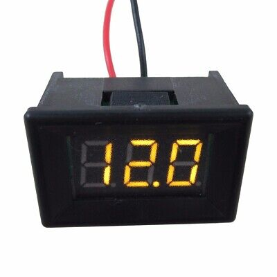 Mini 2 Wire DC 4.5-30V LED Panel Digital Display Voltage Meter Voltmeter Yellow