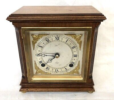 ELLIOTT LONDON Walnut Bracket Mantel Clock : Strikes Hours & Half Past