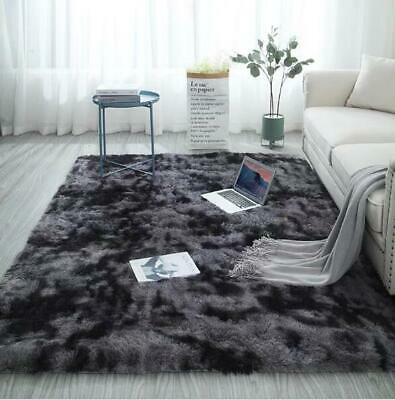 Large Sienna Shaggy Floor Rug Plain Soft Carpets Fluffy Area Thick Pile
