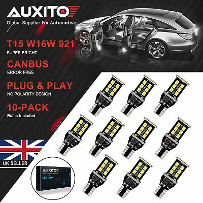 2/4/10X AUXITO T15 W16W 921 Error Free Canbus LED Reverse Back Light Side Bulb