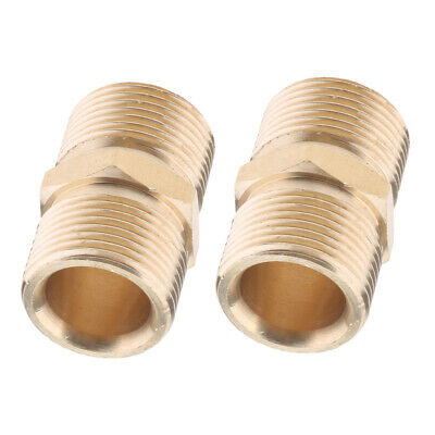 2Pieces Pressure Washer Swivel Brass Hose Adapter Connector 22mm M to 22mm M