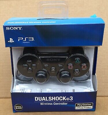 B/New - Sony PS3 DUALSHOCK 3 Wireless Controller - Black - L@@K!!!!