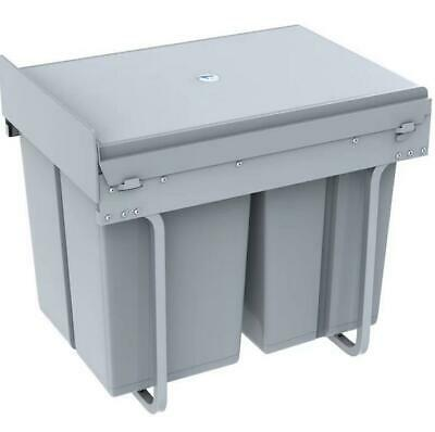 Symple Stuff 40 Litre Grey Pull Out/Under Counter Bin 41.8cm H x 48 W x 34.2 D