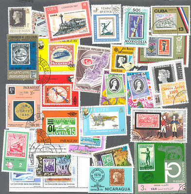 Stamps on Stamps Thematic packet 100 all different