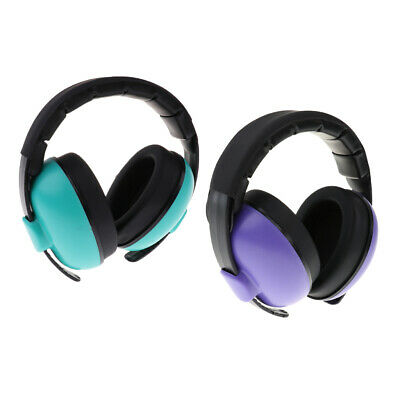 2x Kids Safety Sound Impact Ear Muffs Hearing Protection Noise Reduction