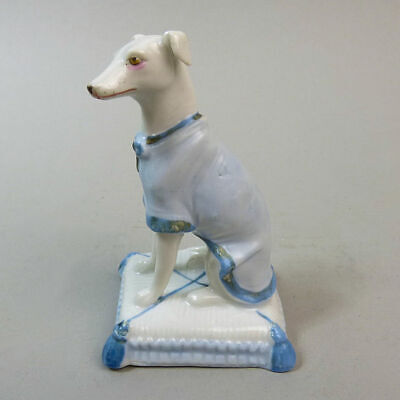 Antique German Fine Porcelain Grey Hound Figure C.1880