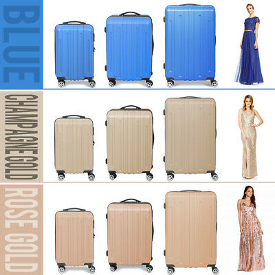 3PCS Luggage Sets Hard Shell Suitcase Travel Bag Trolley Spinner ABS Business