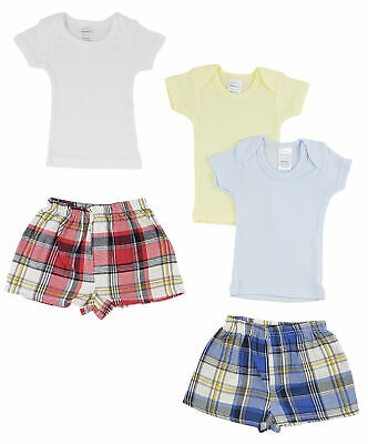 Infant Boys T-Shirts and Boxer Shorts - Large