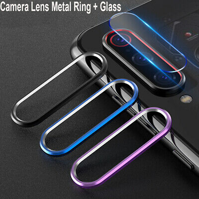 For Xiaomi Redmi Note 7 Camera Lens Protector Case Metal Ring Cover +Glass Film