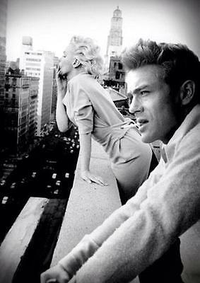JAMES DEAN & MARILYN MONROE SMOKING BALCONY POSTER Art Print Photo Poster A3 A4