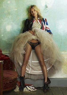 KATE MOSS ICONIC UNION JACK POSTER Wall Art Print Photo A3 A4