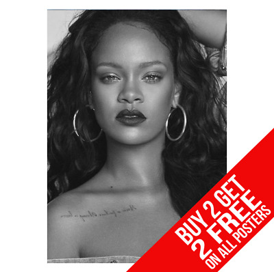 Rihanna  Poster A4 A3 Size Perfume Print - Buy 2 Get Any 2 Free